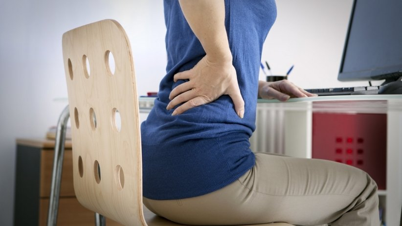 back pain at desk job